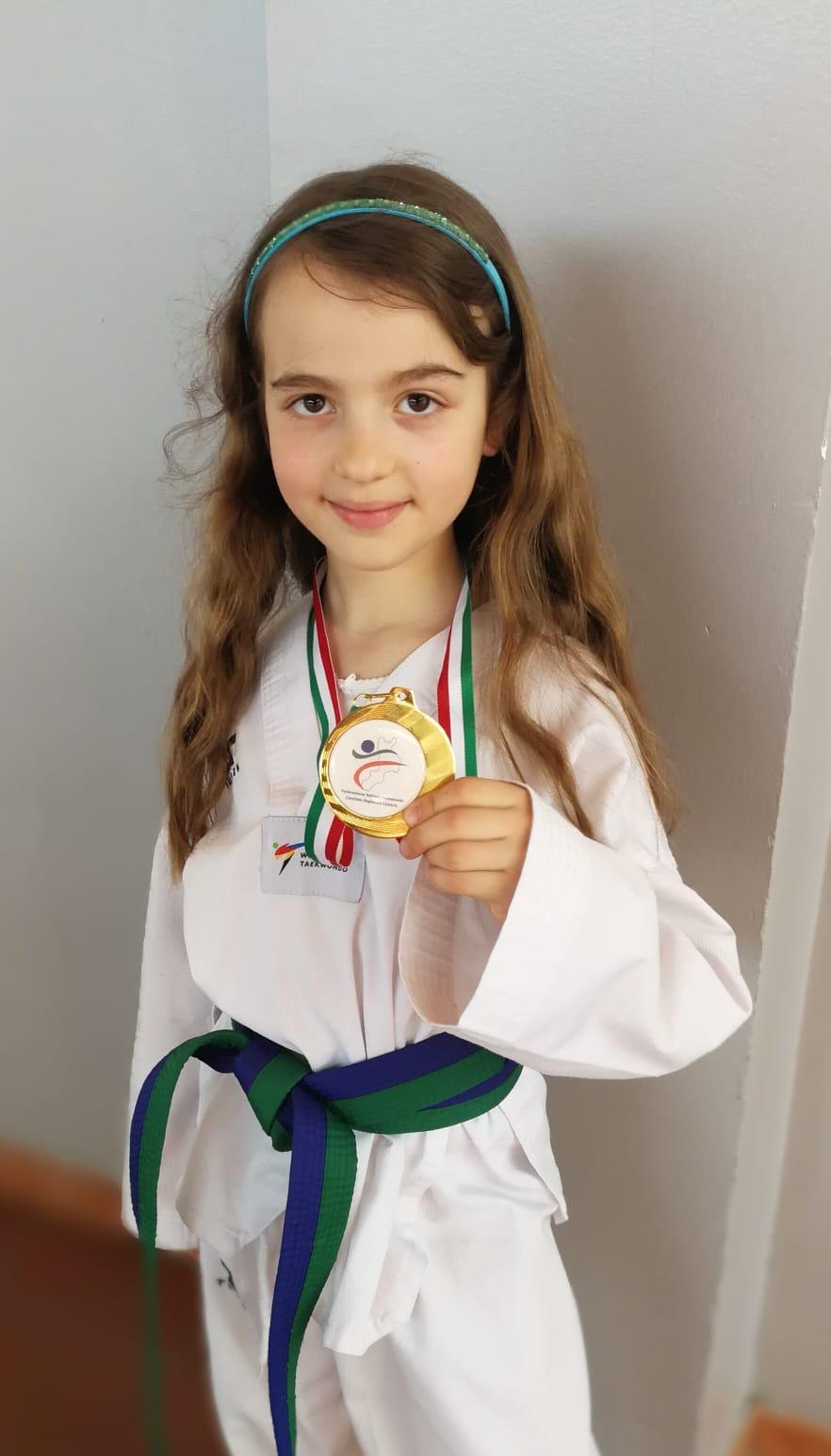 medaglia oro taekwondo